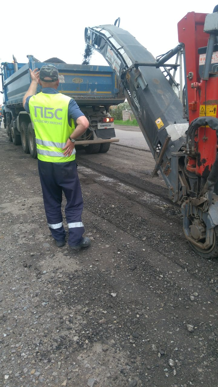 Road repairs commenced in Zabolotiv