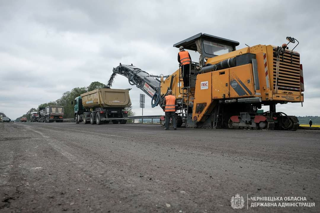 Commencing to repair the international highway M-19