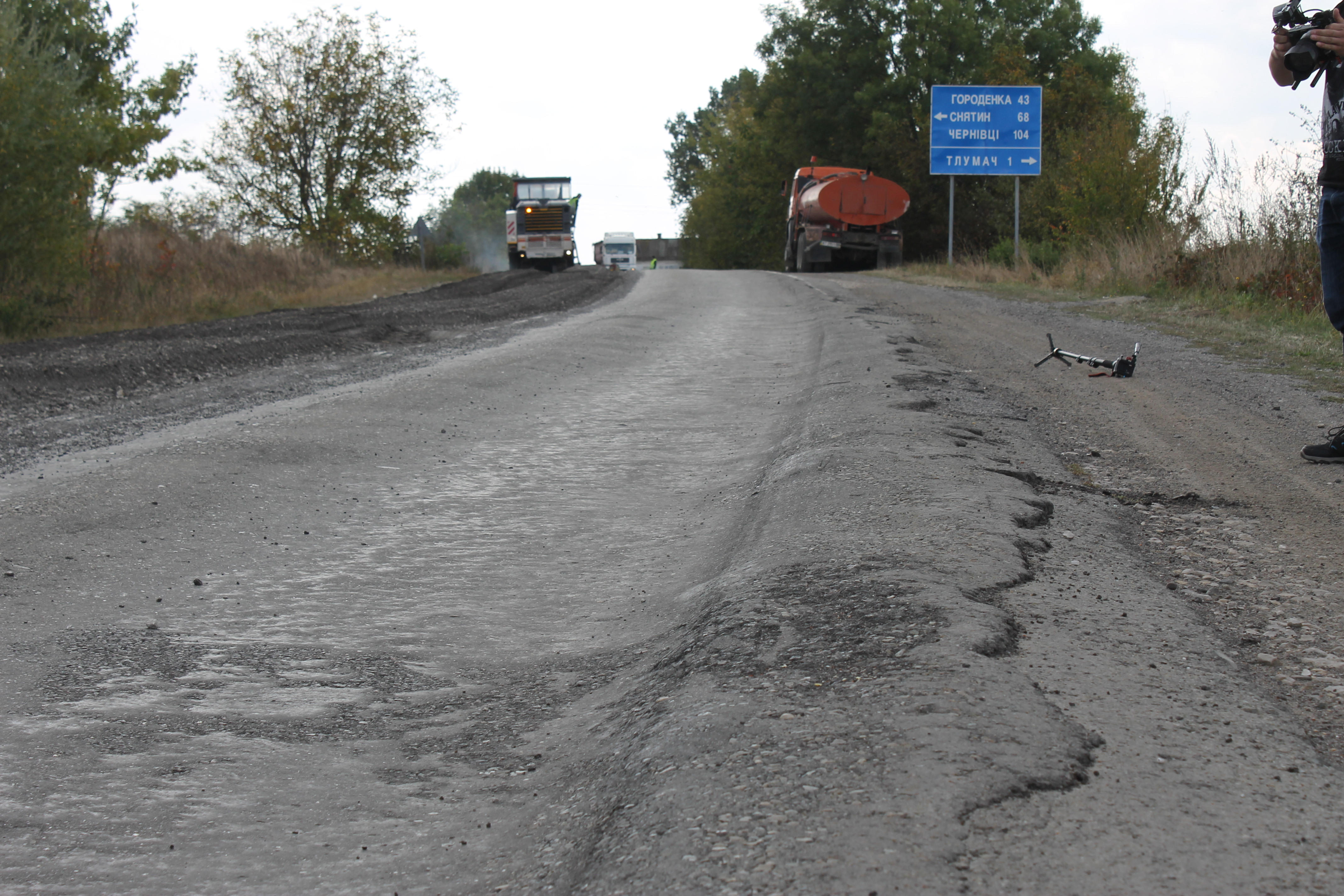 Tlumach detour road is being repaired