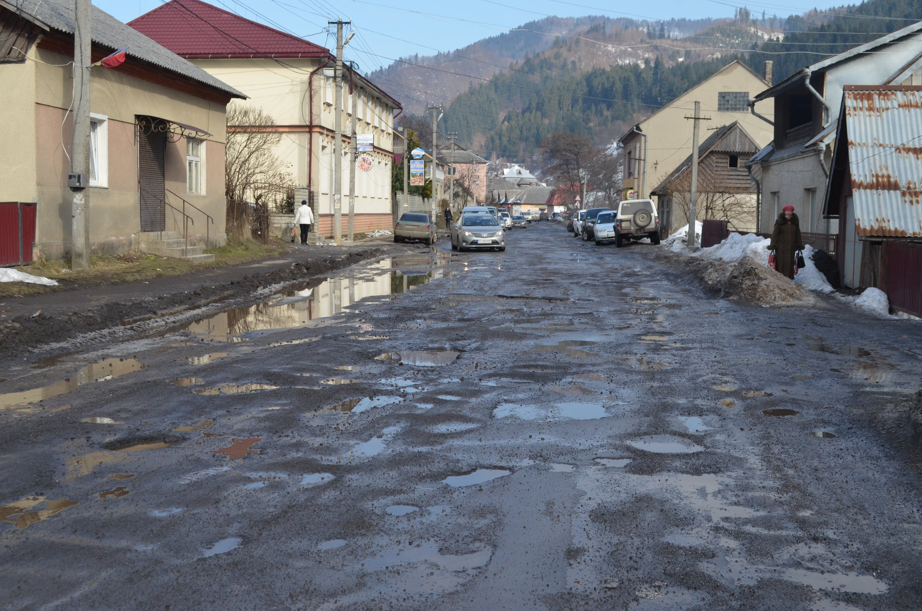 The Transcarpathian roads are fading away