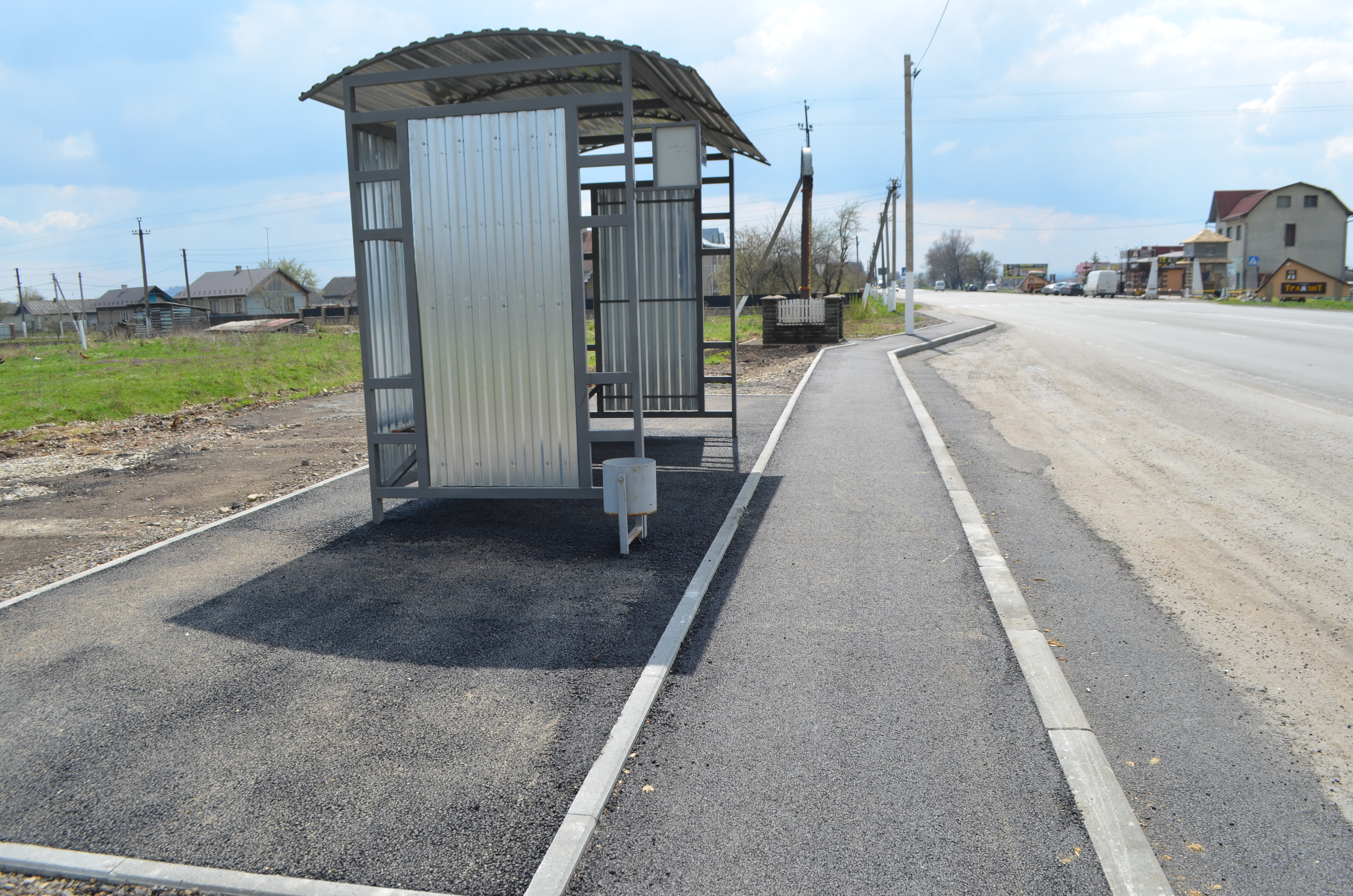 Two bus stops upgraded in Stari Kryvotuly